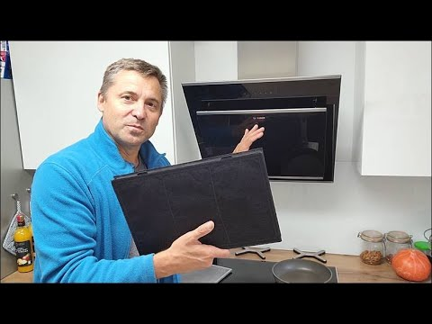 Kohlefilter im Dunstabzug reinigen. Aktivkohle Filtermatte 70 Grad Spülmaschine ohne Spülmittel