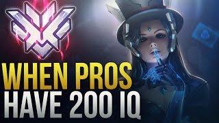 PROS MAKE INSANE SMART PLAYS [ 200 IQ PLAYS] - Overwatch Montage