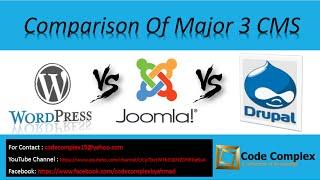 CMS Comparison : Wordpress vs Joomla vs Drupal Tutorial in Urdu/Hindi (Which CMS is best)