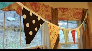 Fabric Bunting How To With Free Pattern - Whitney Sews
