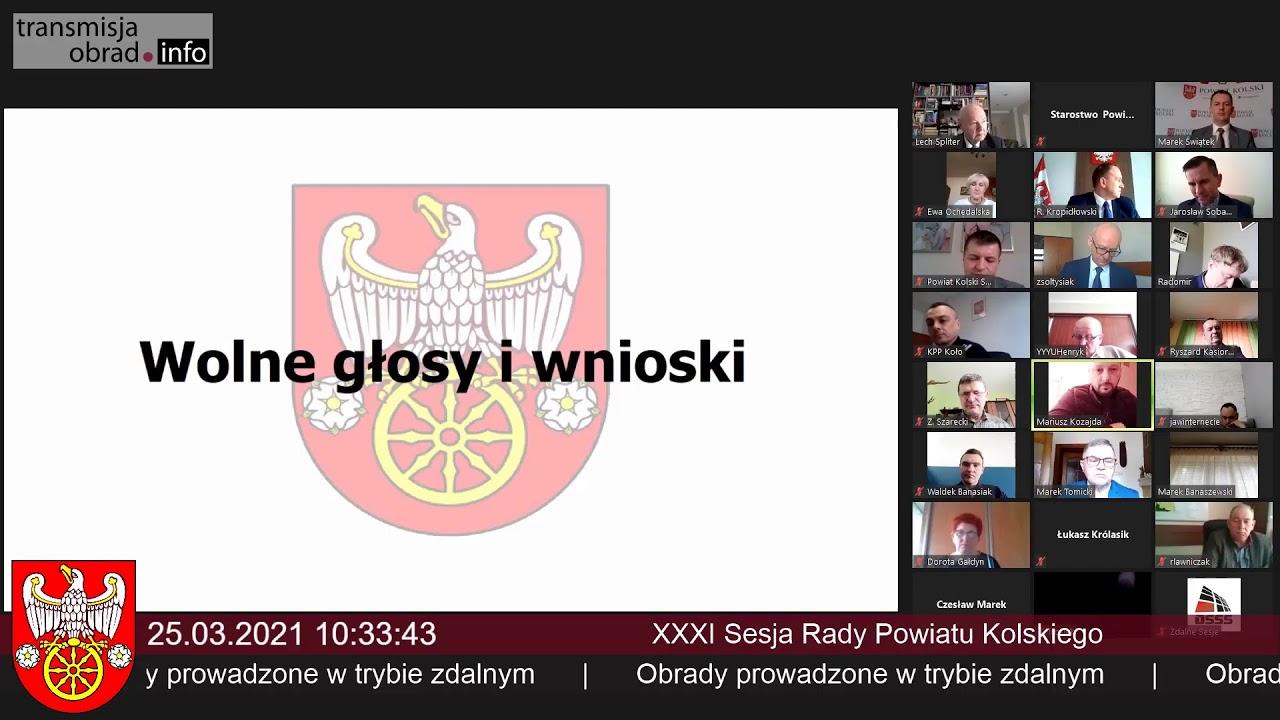 Zdjęcie do XXXVIII sesja Rady Powiatu Kolskiego
