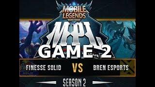 BREN VS FINESSE - GAME 2 - MPL SEASON 2 - MOBILE LEGENDS
