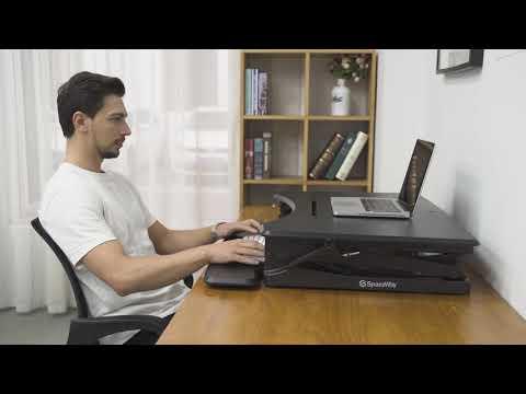 Curved Edge Standing Desk Converter HVS-B02