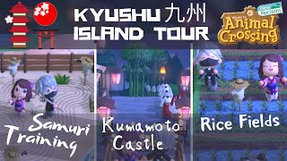 BEAUTIFUL Kyūshū 九州, JAPAN Island Tour W/ Kumamoto Castle/Countryside Animal Crossing New Horizons