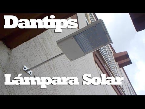 Lampara led solar reseña - Dantips