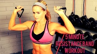 5 Minute Resistance Band Workout by BodyFit By Amy
