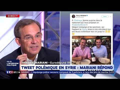 Tweet polémique en Syrie : Mariani répond Tweet polémique en Syrie : Mariani répond