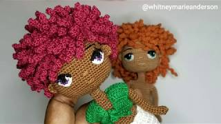 Mini Crochet Doll Afro Wig - Video Tutorial