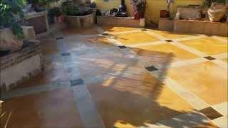 חיפוי בטון דקורטיבי על רצפת גג