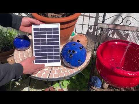 LUXJET Solar Wasserpumpe Springbrunnen für Gartenteiche Verschiedenen Düse unboxing und Anleitung