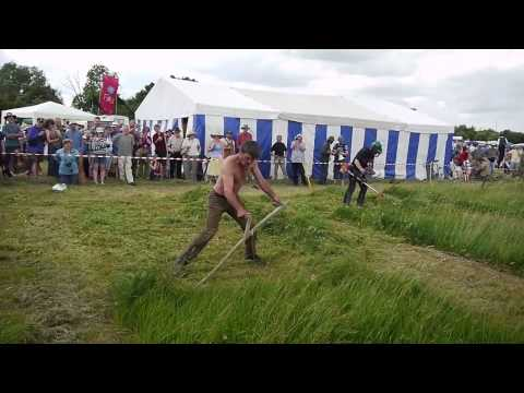 Scythe vs Brushcutter 1 – South West Annual Scythe Festival – June 2010