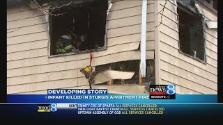 Sturgis infant dies in apartment fire