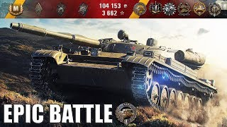Т-100 ЛТ БОЙ КРУЧЕ ЧЕМ КИНО!!! медаль Фадина 🌟🌟🌟 World of Tanks лучший бой