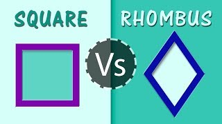 What is the Difference Between Square & Rhombus | Quadrilateral Polygons | Geometry