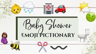 Emoji Pictionary Baby Shower Game!