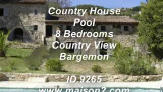 Provence Villa For Sale,7 Bedrooms In Bargemon, Var, South Of France
