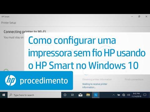 Como configurar uma impressora sem fio HP usando o HP Smart no Windows 10