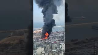 Video: Masivní požár přístavu v Bejrútu