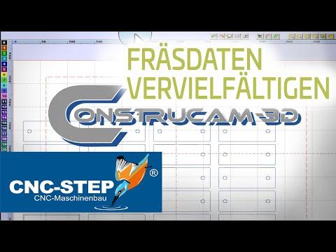 Erklärvideo ConstruCAM-3D: CNC Fräsdaten vervielfältigen