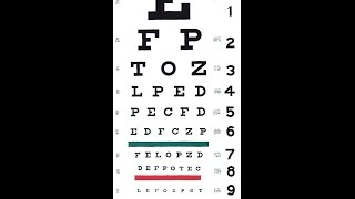 Grafco Snellen Hanging Eye Chart