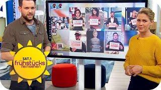 Gewalt gegen Frauen stoppen! #schweigenbrechen | SAT.1 Frühstücksfernsehen | TV