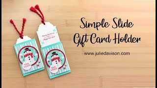 Simple Slide Gift Card Holder Tutorial