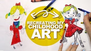 REDRAWING MY OLDEST DRAWING! | Crayons and Pencils | DrawingWiffWaffles