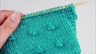Stitch Tutorial: MB (Make Bobble), Knitted Version