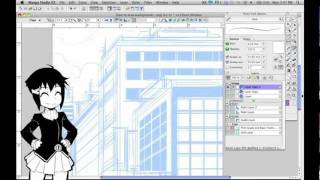 How to Draw Manga with Sen and Kai - Buildings 1 Point Perspective