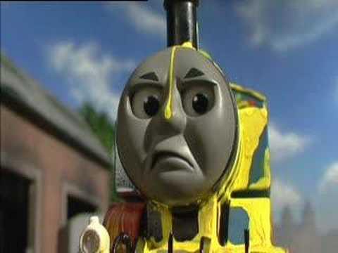 Thomas the tank Engine loses it.
