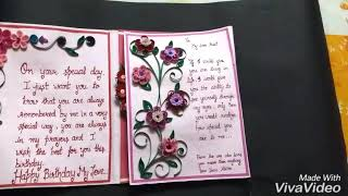 2018 best Quilling Birthday Card | Gift ideas for Husband, friend,  girlfriend, boyfriend|