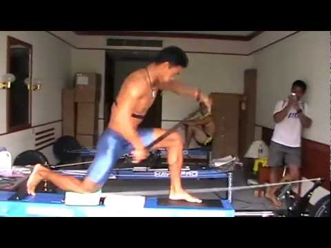 Nuy with improved technique on SpeedStroke Gym Canoe