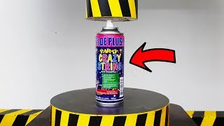 EXPERIMENT HYDRAULIC PRESS 100 TON vs Silly String