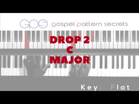 Drop 2 Voicings In The Key Of C Major (Easy Piano)
