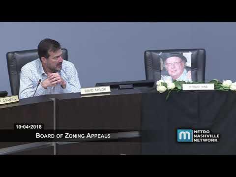 10/04/18 Zoning Appeals Board Meeting