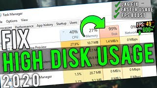 🔧How To Fix 100% Disk Usage On Windows 10 ✅ | Fix High Disk Usage In 2020 Update