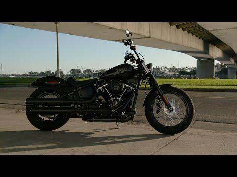 NEW 2021 Harley-Davidson FXBBS Softail Street Bob 114 in Vivid Black
