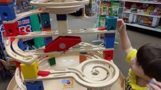 Awesome wooden Marble Run toy: Hape Quadrilla Marble Run: HobbyTown Spfld MO