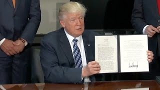 Trump Signs Orders To Reduce Bank Regulations - Full Speech And Ceremony