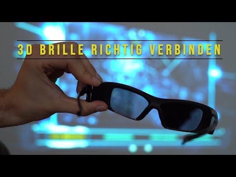 Aktive 3D Brille richtig mit dem 3D Beamer verbinden [2019]