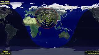 Where is the Annular Solar Eclipse visible in June 2020?