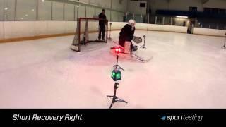 Sport Testing Hockey Goalies, On Ice