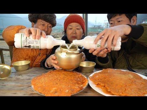 추적추적 비 올 땐 지글지글 김치전과 막걸리 한 잔~ (Kimchi Pancake & Makgeolli) 요리&먹방!! – Mukbang eating show