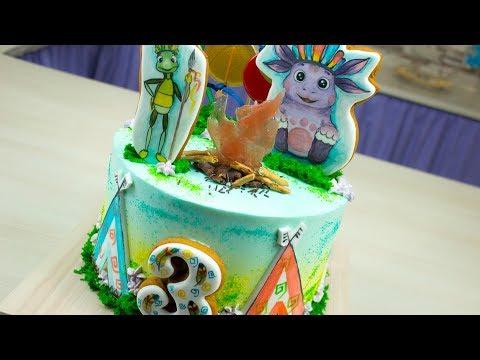 Как оформить торт с Лунтиком