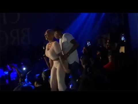 AMBER ROSE TWERKING LIVE WITH  Chris Brown DANCING