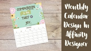 How To Design A Monthly Calendar In Affinity Designer
