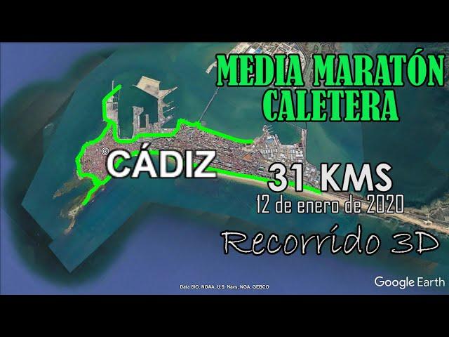 X CALETERA 2020: 31 KM. Recorrido 3D