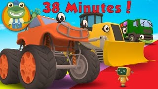 Max The Monster Truck and More Big Trucks For Children | Gecko's Garage