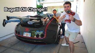 Fixing A Bugatti Veyron With A Garden Hose In My Driveway