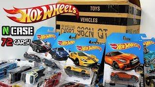 Unboxing Hot Wheels 2017 N Case 72 Car Assortment!